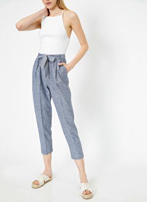 Koton Beli Bağlamalı Doğal Dokulu Pantolon